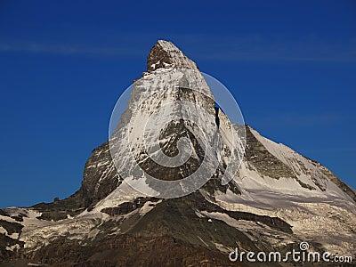 Matterhorn in Morning Sun With Blue Sky