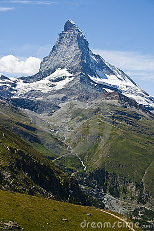 Matterhorn mountain in Zermatt, Switzerland