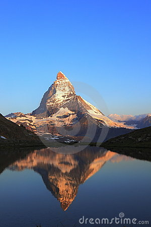 Matterhorn peak and reflection