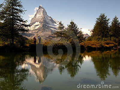 Matterhorn reflecting 05, Grindjisee, Switzerland