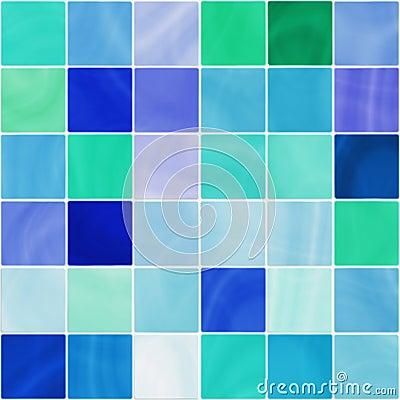 Mattonelle bianche e blu senza giunte della stanza da - Mattonelle x bagno ...