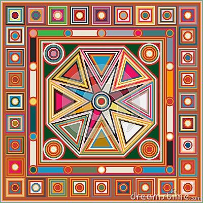 mattonelle colorate del fondo illustrazione vettoriale On mattonelle colorate