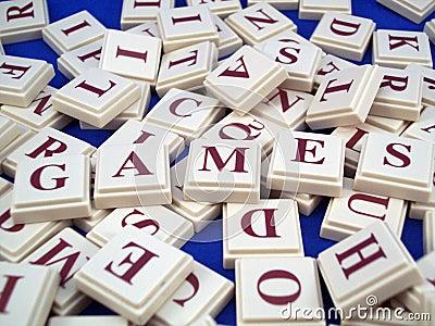 Mattonelle della lettera dei giochi