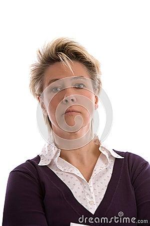 Mature blond woman