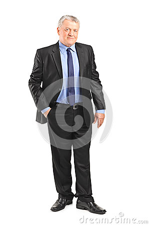 Mature businessman posing