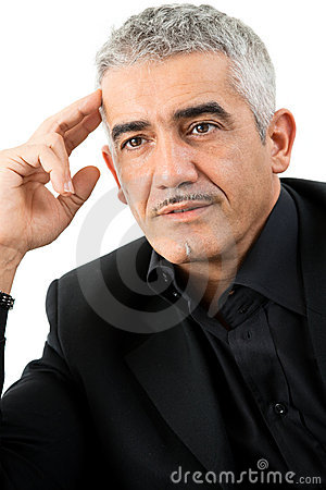 Free Mature Businessman Thinking Royalty Free Stock Photos - 8366008