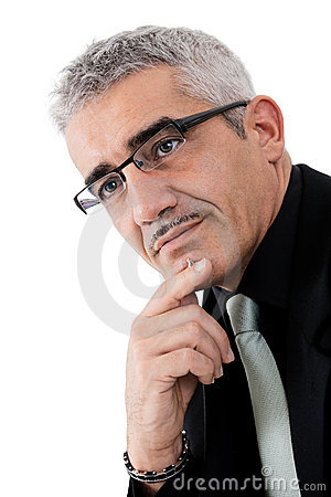 Free Mature Businessman Thinking Royalty Free Stock Photo - 8422755