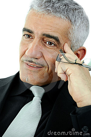 Free Mature Businessman Thinking Royalty Free Stock Photos - 9493978