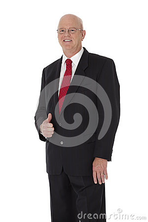 Mature Businessman on White