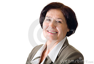 Mature businesswoman, isolated