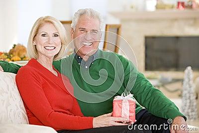 Mature Couple At Christmas