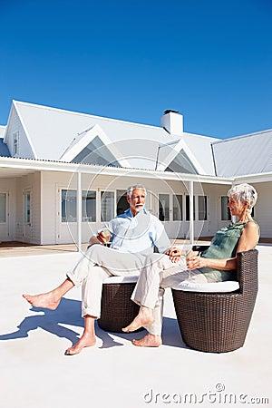 Mature couple enjoying themselves