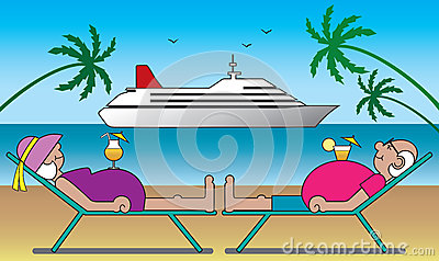 Mature Couple On Vacation Stock Vector Image 41311929