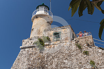 Mature couple viewing  from lighthouse Editorial Photography