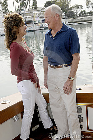 Mature Couple on Yacht