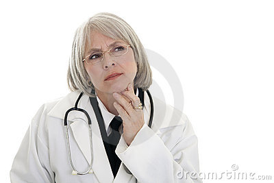 Mature female doctor