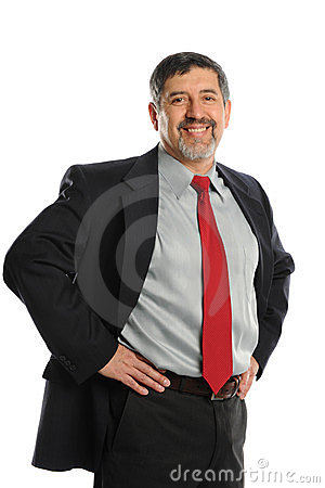 Mature Hispanic Businessman smiling