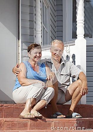 Mature loving couple