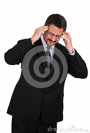 Mature Man with bad Headache