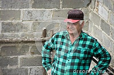 Mature man in check shirt
