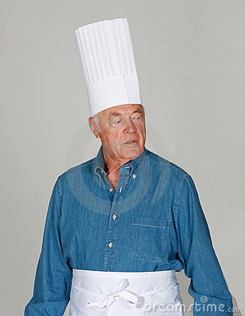 Mature man with chef s hats
