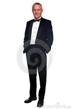 Free Mature Man In Tuxedo And Black Tie. Royalty Free Stock Photos - 11831698