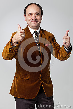 Mature Man with a Positive Expression