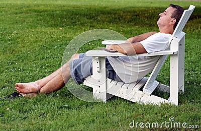 Mature man relaxing