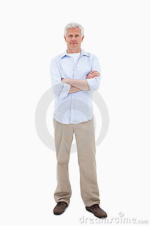 Mature man standing up