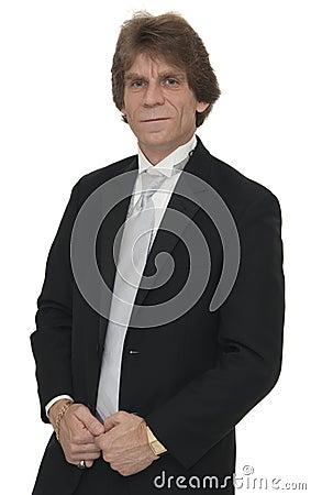 Mature man in tuxedo