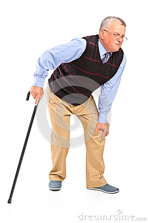 Free Mature Man With A Knee Pain Royalty Free Stock Photography - 26981757