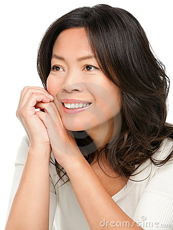 Mature middle aged Asian woman