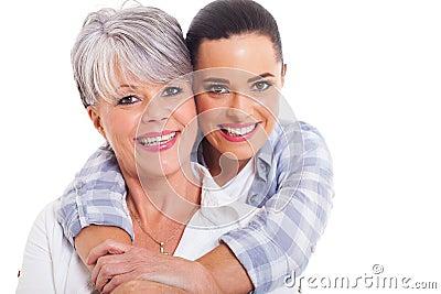 Mature mother adult duaghter