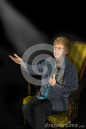 Mature Senior Woman Christian Religion Portrait