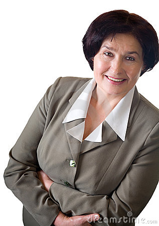 Mature smiling happy woman