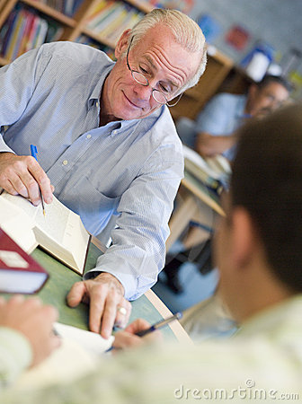 Free Mature Students Studying In Library Stock Images - 5947564