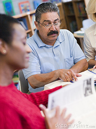 Free Mature Students Studying In Library Stock Photography - 5947862