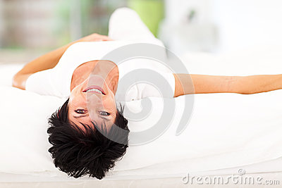 Mature woman bed