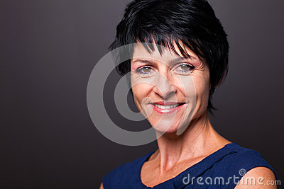 Mature woman closeup