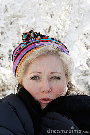 Mature woman cold