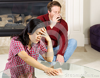 Mature Woman Depressed due to alcoholic Husband