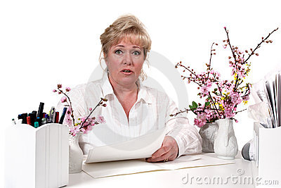 Mature woman at desk