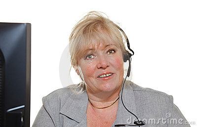 Mature woman phone assistance