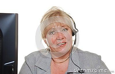 Mature woman phone assistance