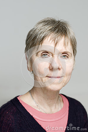 Mature woman portrait neutral