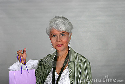 Mature woman shopping