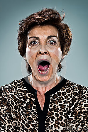 Mature Woman Shouting