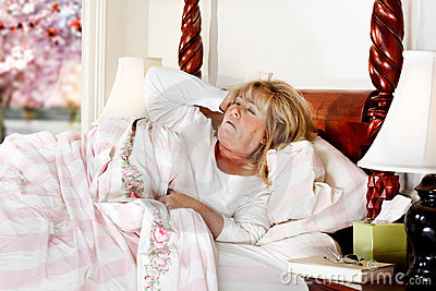 Mature woman sleepy morning