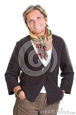 Free Mature Woman Smiles Royalty Free Stock Photo - 1700675