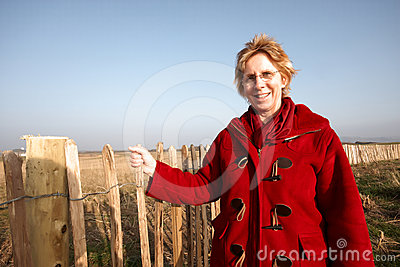 Mature woman standing in a field